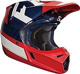 Fox Helmet V di 3preest, Navy/Rosso, Taglia M
