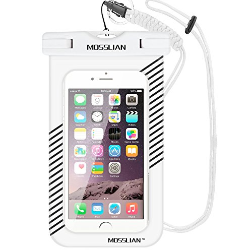 Custodia Impermeabile MOSSLIAN Waterproof Case per iPhone 7, 7 Plus, 6s, 6s Plus, SE, 6, 6 Plus, Samsung S7, S7 edge, S6, S6 edge, S5 ed altri Cellulari di Apple & Android Meno di 6 Pollici
