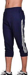 [Limore(リモア)] 7分丈 ショート パンツ アクティブ 短パン フィットネス ハーパン スウェット メンズ