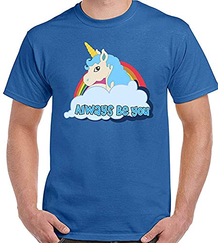 Central Intelligence T-Shirt Unicorn The Rock Dwayne Johnson Mens Funny tee Top_789 Sapphire M