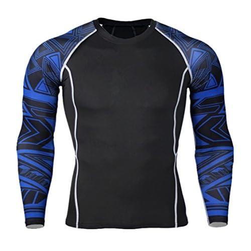 51+B5Gf4xjL. SS500  - TieNew New Skin Tight Compression Base Layer Black Running Shirt Mens