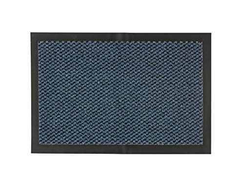 Felpudo NELA para el Interior – Felpudo para Puerta de Secado rápido – Antideslizante – fácil Limpieza – 60 x 80 cm – Azul Jaspeado