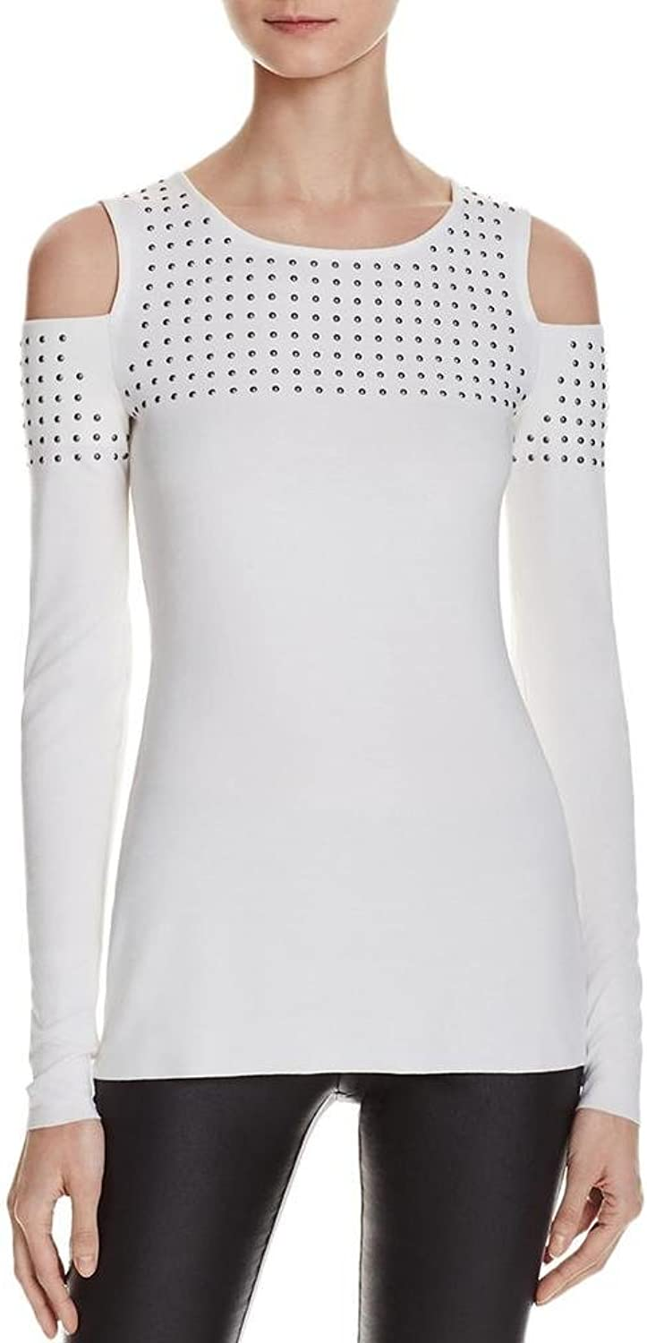 Bailey 44 Womens Cold Shoulder Embellished Casual Top