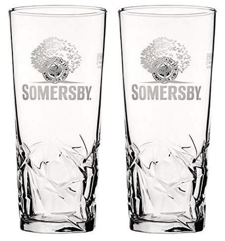 Somserby - Vaso de pinta endurecido y nucleado con certificado CE, 2 unidades