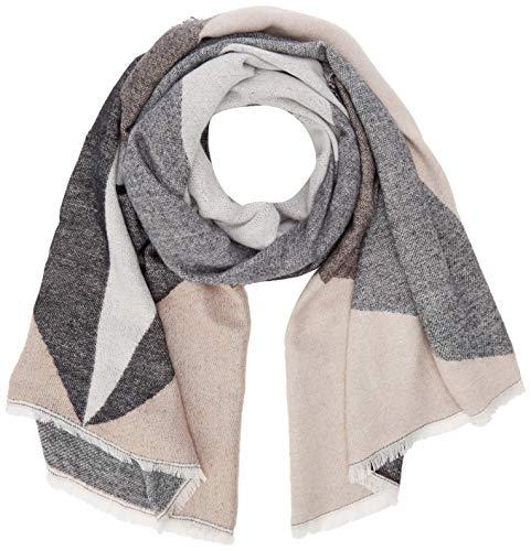 ONLY Damen ONLTILLA Weaved Scarf CC Schal, Schwarz (Black Detail: Cloud Dancer and Misty Rose), (Herstellergröße: One Size)