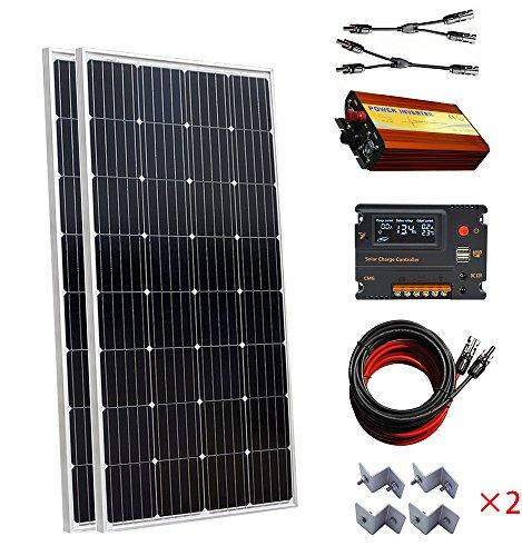 100W panneau solaire kit 12V batterie se recharge contrôleur bateau accueil RV
