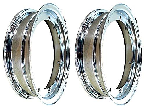 2llantas cromadas RMS 3,50-10para Vespa PX de Piaggio 125/150/200