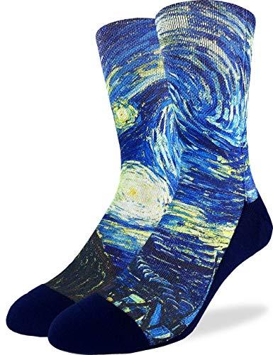 Good Luck Sock Men's The Starry Night Socks, Adult