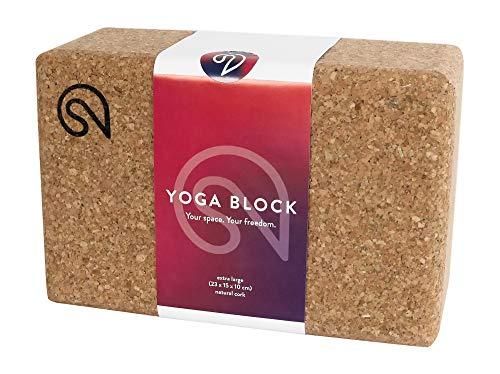 SHANTI NATION - Shanti Block XL - großer Yogablock - aus Naturkork - 23 x 15 x 10 cm - Klotz auch für Pilates & Fitness - Made in Europe - ökologisch hergestellt