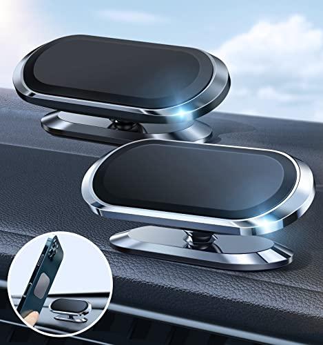 EdorReco Handyhalterung Auto Magnet 2 Stücke,360° Verstellbare Magnetische Auto Handyhalterung Handyhalter Auto fürs KFZ Armaturenbrett Kompatibel mit Smartphone iPhone,Samsung,Huawei,Xiaomi usw