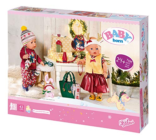 Zapf Creation 827222 BABY born Great Value Set Puppenkleidung und Accessoires für Adventskalender, mehr als 24 Teile