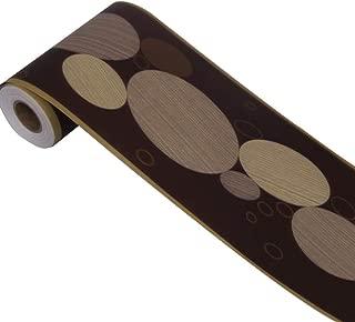 SimpleLife4U Ellipse Pattern Wallpaper Border Roll Peel & Stick Wall Covering Border Kitchen Tiles Decor