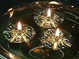 Aromaglow mágico de Agua flotante velas, 50 reutilizable plateado flotadores y 50 larga duración alimentados con la piel y ayuda a de aceite vegetal. Centro de mesa para boda