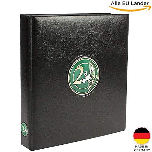 SAFE 7343 das 2 Euro Münzen Sammelalbum Aller EU Länder - Münzsammelalbum für Ihre Coin Collection + 2 Münzhüllen + farbige Vordruckblätter + Sticker-Set Flaggen