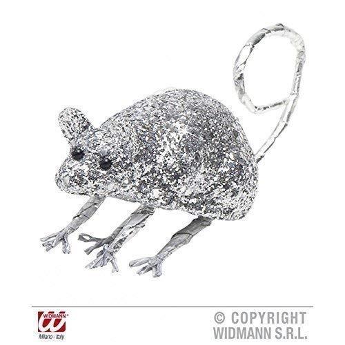 Lively Moments Souris / Rat Couleur Argentée Scintillant Env. 8,5 cm / Décoration de Halloween / Décoration de Table/Salle de Séjour Déco