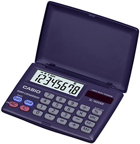 Casio SL-160VER Basic Taschenrechner, navy blau