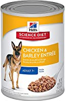 Hills Adult 7+ Chicken and Barley Dog Food, 12 Count, 4.44 Kilograms