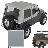 Rugged Ridge 13722.09 XHD Soft Top, Charcoal, w/Upper Door Skins, Tinted Windows; 88-95 Jeep Wrangler YJ