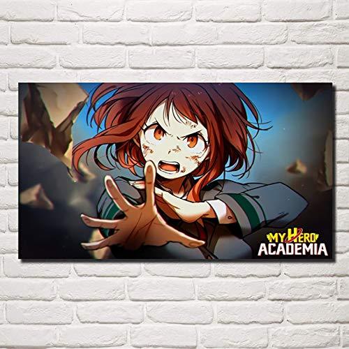 Amrzxz DIY-Hero Academia Anime Fotografías Lienzo de Bricolaje Regalo de Pintura al óleo para Adultos niños Pintura por número Kits Decoraciones para el hogar(sin Marco) 30x60cm