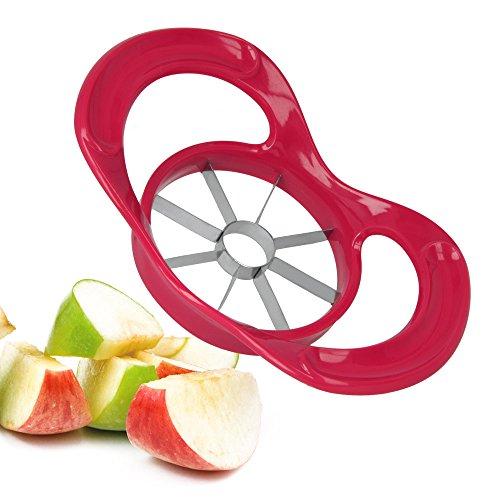 Metaltex Vitamine\'s Power Cortador de Manzanas, Acero Inoxidable, Rojo, 19.5x11.5x5.5 cm
