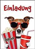 Edition Colibri Lot de 10cartes d'invitation au cinéma pour un anniversaire Convient pour les séances en...