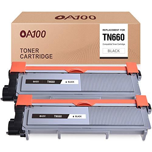 OA100 Compatible Toner Cartridge Replacement for Brother TN660 TN630 for HL-L2380DW HL-L2320D HL-L2300D HL-L2340DW DCP-L2540DW (Black, 2-Pack)