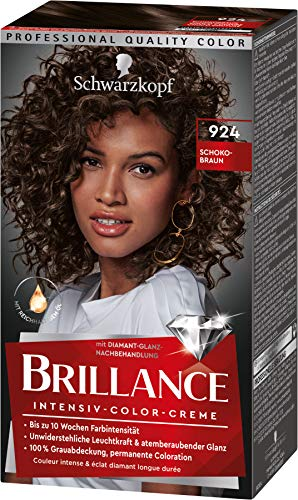 Brillance Intensiv-Color-Creme Haarfarbe 924 Schokobraun Stufe 3, 3er Pack(3 x 160 ml)