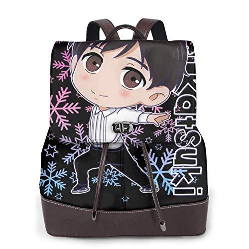 Katsuki Yuri On Ice Women's Bapack, College Girl School Bag, Ladies Travel Bapack, Ladies Leather Bapack