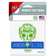 "Officially Licensed Product of the MLS 4""x4"" Perfect Cut Decal Vibrant Team Colors"