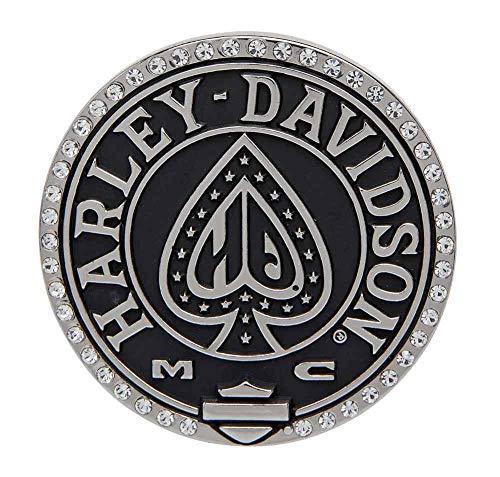 HARLEY-DAVIDSON Damen Gürtelschnalle mit Strassteinen Poliert 6,3 x 6,3 cm
