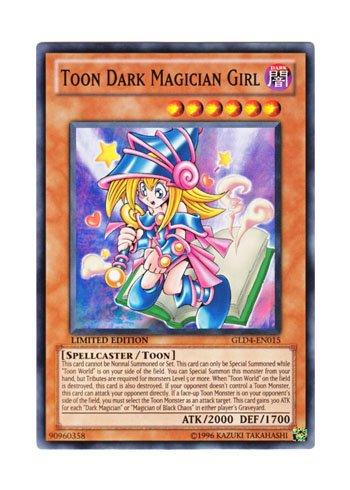 遊戯王 英語版 GLD4-EN015 Toon Dark Magician Girl トゥーン・ブラック・マジシャン・ガール (ノーマル) Limited Edition