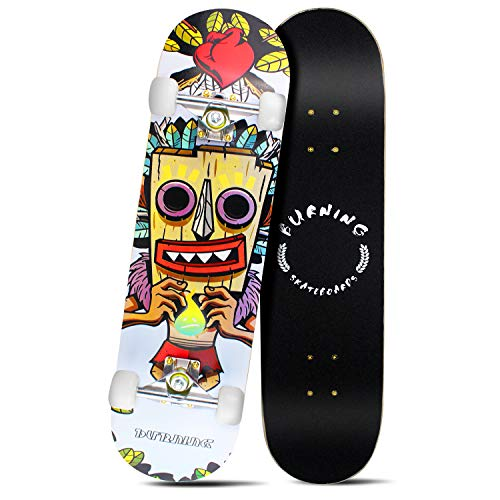 Easy_Way Complete Skateboards Standard Skateboards 95A ABEC7 for Beginners Starters Kids Boys Girls Youth 31quotx 8quot Canadian Maple Cruiser Pro Skate BoardLongboard Skateboards