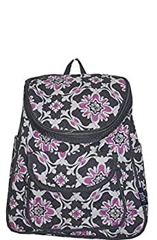 Ngil Quilted Mini Backpack Purse  Purple Quatro Vine Grey