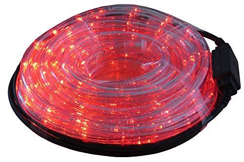 Gartenpirat LED Lichtschlauch rot 9 m für Garten innen/außen
