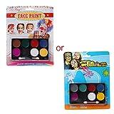 WE-WHLL 8 Colori Body Face Paint Kit Art Makeup Painting Pigment Fancy Dress Up Party