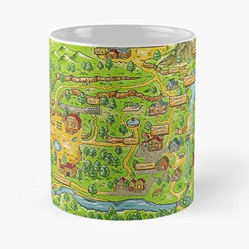 Younini Stardew Valley Map Video-Best Cup Tazas de café de cerámica