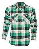 WCC West Coast Choppers Shirt El Diablo Flannel Workershirt Green-XXXL