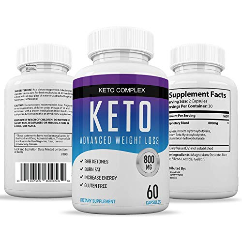 Keto Diet Pills for Men and Women - Helps Weight Loss & Burns Fat Quicker - Get Fit, Get Energized and Clear Your Mind - 60 Easy-Swallow Capsules Per Bottle for Keto Weight Loss by Chi Nutrition 3