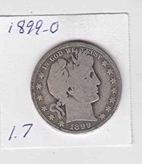 1899 O Barber Half Dollar Silver Coin Circulated Low Mintage Half Dollar Good