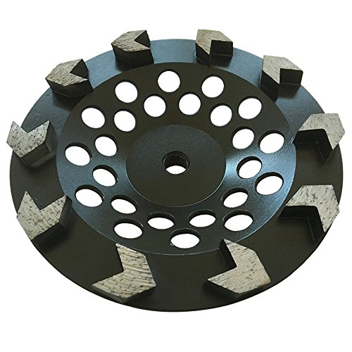 "Grinding Wheel for Paint, Epoxy, Mastic, Coating Removal (7"" Arrow Seg - 5/8""-11 Arbor)"