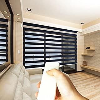 Taiwan Present Godear Design Zebra Design Roller Window Shades, Motorized-Remote, Privacy Horizontal Blinds, 31