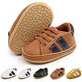 Meckior Infant Baby Boys Girls Classic PU Leather Wedding Loafers Brogue Toddler Oxford Dress Shoes First Steps Walking Flat Lazy Crib Shoe…