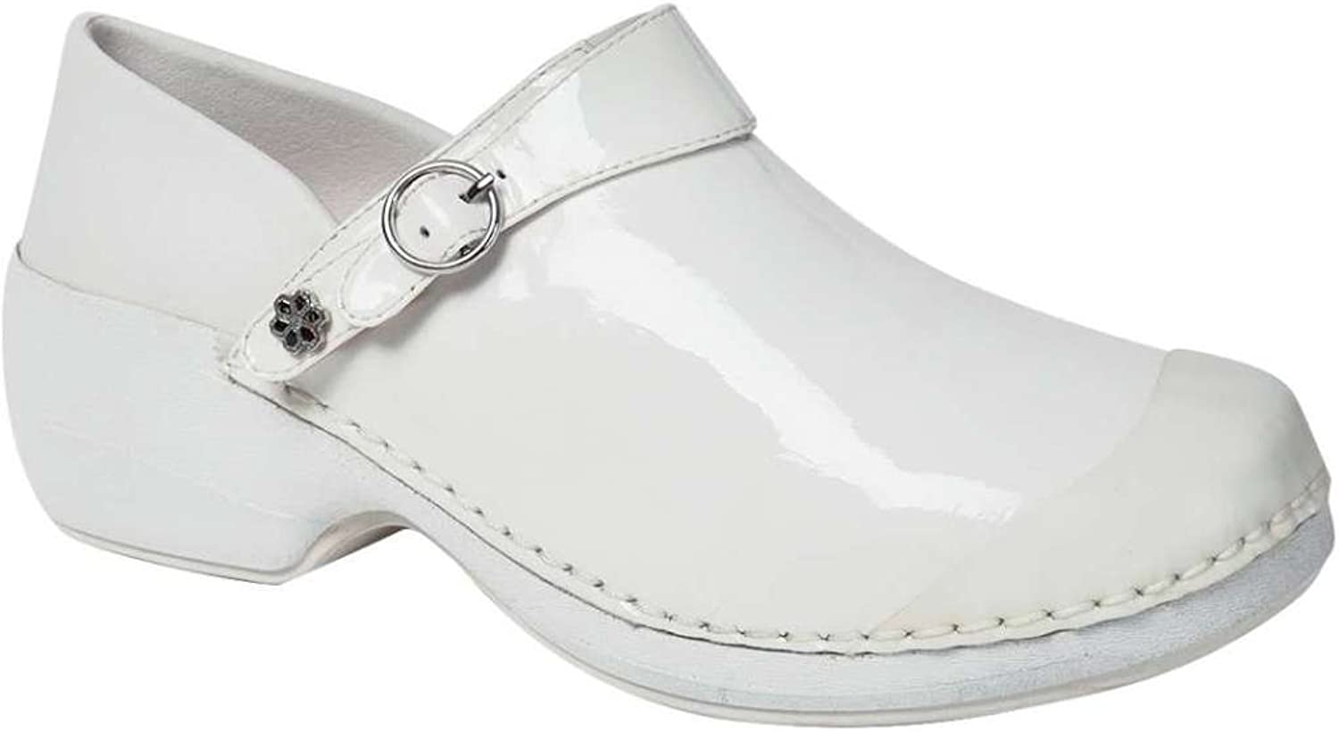 Rocky 4EurSole Work shoes Womens Patent Leather Clog 37 M White RH006