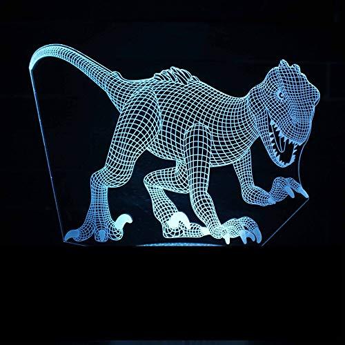 Nette Dinosaurier 3D LED Nachtlicht USB Tischlampe Kinder Geburtstagsgeschenk Nachtdekoration am Bett