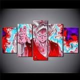 jzxjzx Rahmenlose 5 Animation dekorative Malerei Dragon Ball Wukong Wohnzimmer Sofa Hintergrund Wandmalerei 19 20x35cmx2 20x45cmx2 20x55cmx1