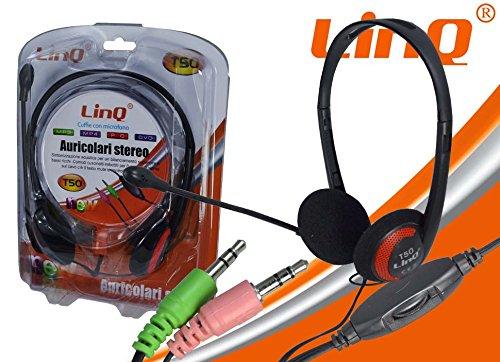 LINQ CUFFIE CON MICROFONO T50