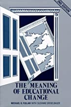 The New Meaning of Educational Change by Fullan Michael (1991-07-01) Paperback