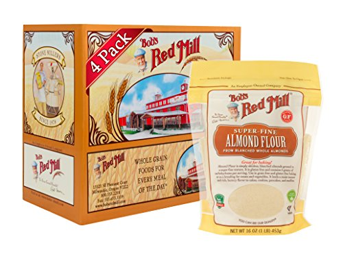 Bob's Red Mill Super-fine Almond Flour, 16 Ounce (Pack of 4, Stand up Pouch)