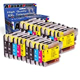 Alaskaprint 20x Compatible Cartucho de Tinta para Brother LC-1100 LC1100 LC980 LC-980 con Brother DCP-145C DCP-195C DCP-165C MFC-250C MFC-490CW MFC-5490CN MFC-5890CN MFC-6490CW
