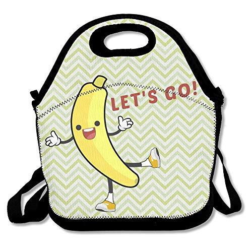Lustige Bananen-Bananen-Tasche, wasserdicht, isoliert, wiederverwendbar, Picknick-Boxen für Männer, Frauen, Kinder